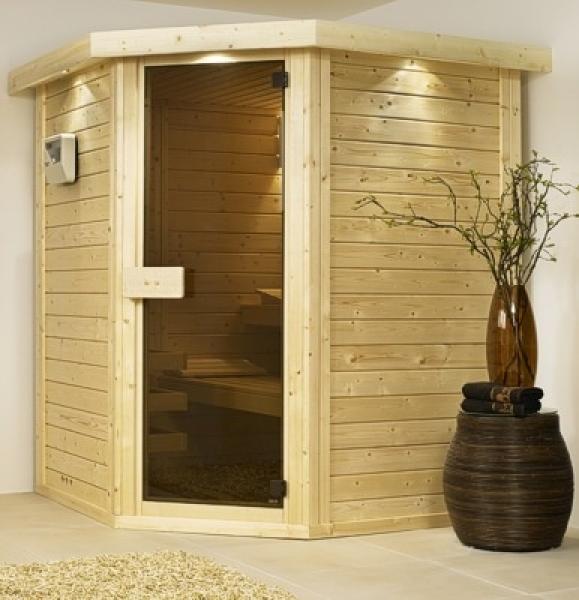 helo sauna casa typ 2 200 x 160 cm 44 mm. Black Bedroom Furniture Sets. Home Design Ideas