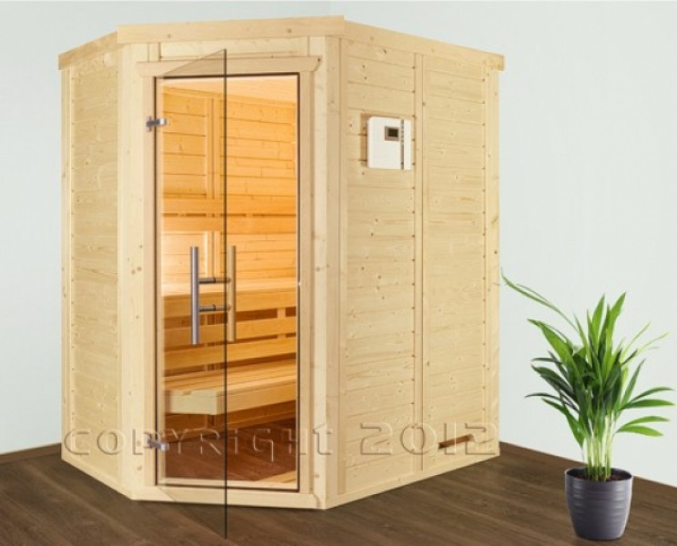 kleine sauna modell hess wellness mini bad eck. Black Bedroom Furniture Sets. Home Design Ideas