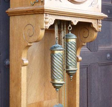 antike standuhr gr nderzeit um 1890 eiche h 215 cm