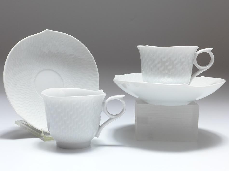 set 2 espressotassen meissen wellenspiel relief wei v 0 09 l geschenkkarton. Black Bedroom Furniture Sets. Home Design Ideas