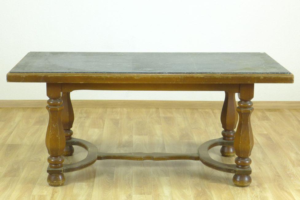 Tisch eckig mit gr ner steinplatte 20 jh - Wohnzimmertisch steinplatte ...