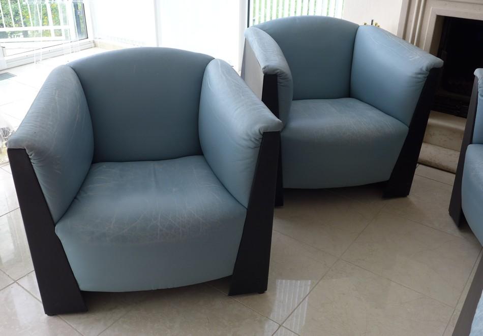 4x loungesessel club sessel leder vintage. Black Bedroom Furniture Sets. Home Design Ideas