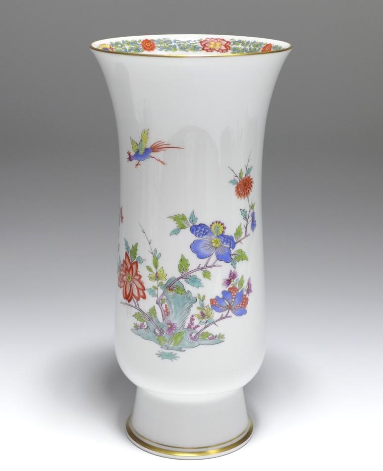 Meissen Vase Rich Indian Flower Painting 1st Quality H 24 Cm