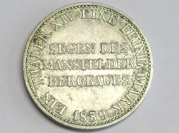 Münze 1 Thaler Ausbeutetaler 1839 A Brandenburg Preussen