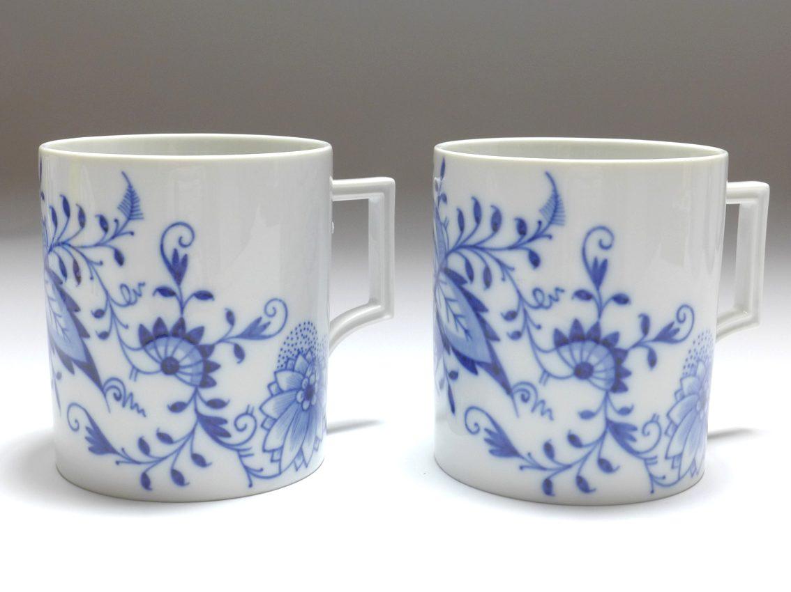 Meissen Porzellan, Paar Kaffeebecher, Form Berlin