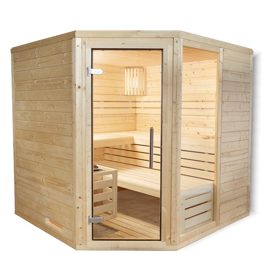 hess wellness eck sauna salzberg 1 196 x 196 cm 45 mm. Black Bedroom Furniture Sets. Home Design Ideas