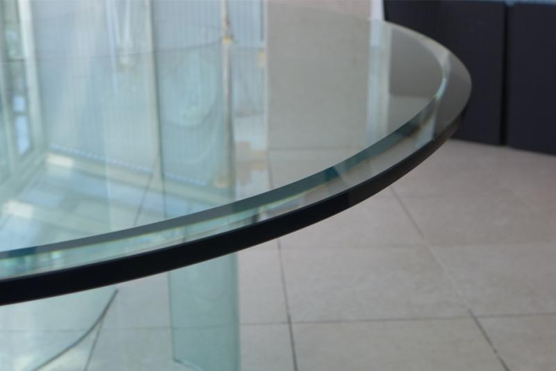 Glastisch oval esstisch bartoli design fiam italy - Glastisch oval ...