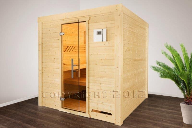 hess wellness sauna salzberg 2 220 x 220 cm 45 mm. Black Bedroom Furniture Sets. Home Design Ideas