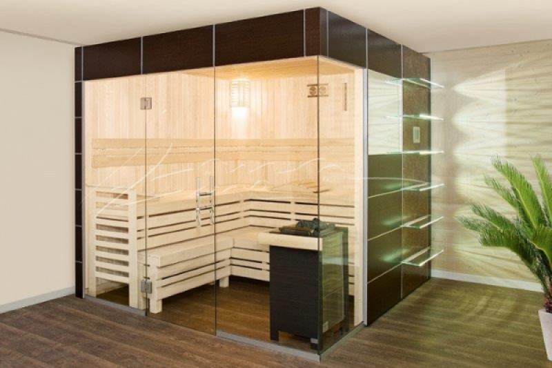 lauraline design sauna zoe mit glasfront und glasecke. Black Bedroom Furniture Sets. Home Design Ideas