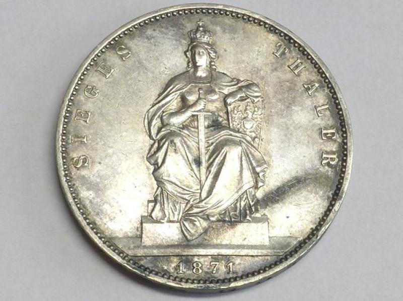Münze Siegesthaler Siegestaler 1871 A Brandenburg Preußen Wilhelm