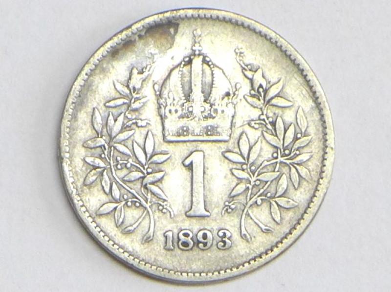 Münze 1 Krone 1893 österreich Franz Josef I D 23 Mm
