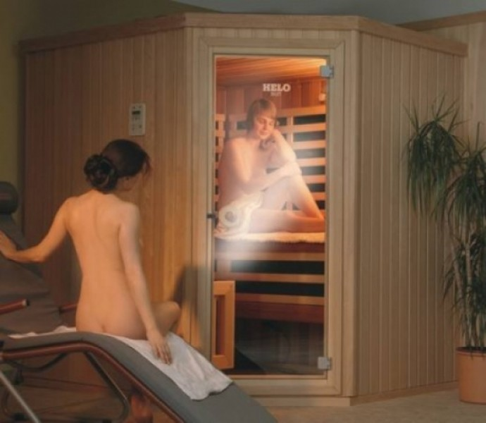helo sauna kombikabine homewell sauna und infrarot. Black Bedroom Furniture Sets. Home Design Ideas