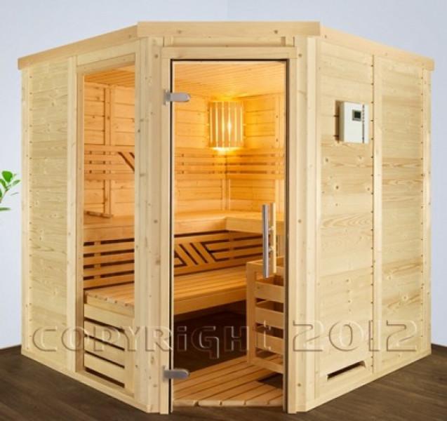 blockbohlensauna blocks flex 45 200 x 200 cm. Black Bedroom Furniture Sets. Home Design Ideas