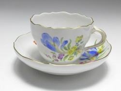coffee cup, flower painting 3, Meissen, 1st quality, V: 0,2 l.