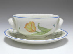 Suppentasse, Villeroy & Boch, Flower Dream, H: 5,5 cm, D: 16,5 cm