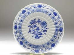 salad-dish, Meissen, blue onion, D: 21,5 cm
