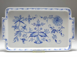 tray, Meissen, blue onion, 37,5x22,5 cm