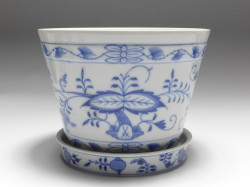 flower-pot, Meissen, blue onion, h: 12,5 cm