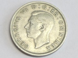 Münze ½ Crown, 1948 George VI, 1936 - 1951, England, Großbritannien, UK