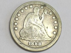 Münze Quarter Dollar, USA, 1888 S, Seated Liberty