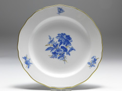 plate, Aquatinta - flower subjects, Meissen, D: 18 cm