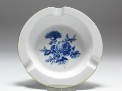 ashtray, Aquatinta - flowerbukett, Meissen, 1st quality, D: 12 cm