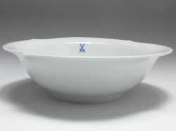 dish, crossed swords, waves pur, Meissen, D: 21,5 cm