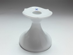 candle holder, Meissen, waves pur crossed swords, H: 8 cm